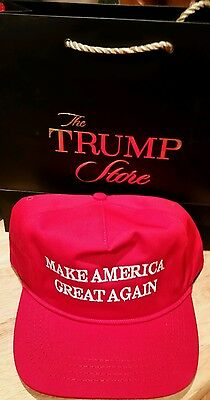 Trump Official campaign Make America Great Again Red hat/cap from Trump StoreNYC