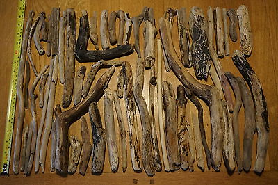 58 Rustic ,weathered Cornish Driftwood Pieces ,they weigh 1.08kg