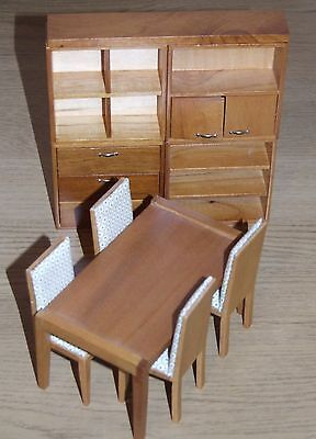 Dolls House Emporium 12Th Scale Modern Dining Room Table Chairs Drawers Shelves