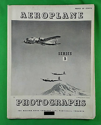 Original Wwii Poster Of 36 Wartime Airplanes Aeroplane Musson Book Co. (Canada)