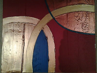 ORIGINAL OIL PAINTING Abstract Wall Art Canvas Modern Contemporary SIGNED FRAMED