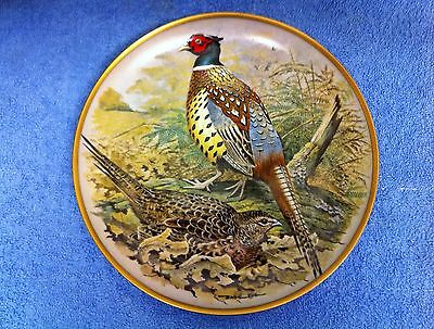 """BASIL EDE- GAME BIRDS OF THE WORLD - Ring Necked Pheasant - 9"""" - Limoges France"""