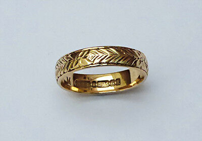 Ladies 9ct Gold Patterned Ring - Size M / 9ct Gold