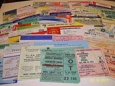 Fantastic Collection of over 70 Used Football Match Tickets ~ 60's to 00's