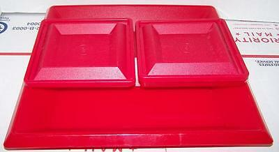Tupperware Get Together Red 1385,1386,1387 serving set!
