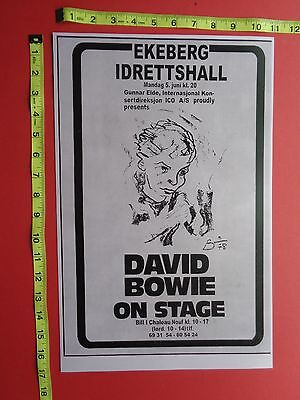 """DAVID BOWIE,Clasic Rock, Concert Poster,11""""x17"""",RCA Record Co. Reprint"""