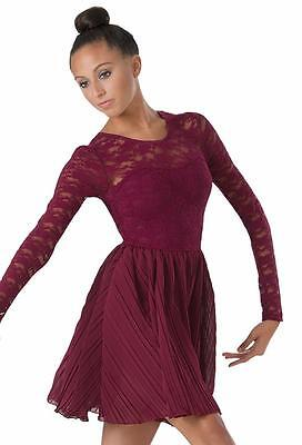 NEW Dance Costume Medium Adult Lace Dress Lyrical Contemporary Solo Competition