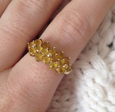 9ct Gold Yellow Topaz Ring Size K