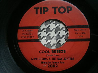 """GERALD SIMS & THE DAYLIGHTERS - Cool Breeze - TIP TOP  45s""""  NORTHERN SOUL"""
