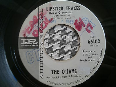 """THE O'JAYS - Lipstick Traces - IMPERIAL  45s""""  Northern Soul"""
