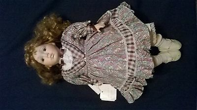 "Leonardo Collectors Porcelain Doll ""Zara"" with tags"