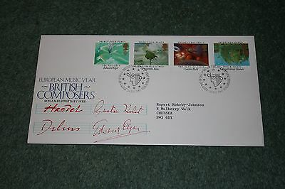 Royal Mail First Day Cover 'British Composers' 1985. Philatelic Bureau Postmark