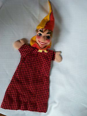 Antique Kersa Germany Jester Rumplestiltskin Hand Puppet Play Toy Doll Character
