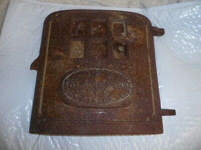 IVY Cast Iron Stove AutoSTOVE WORKS Parlor Heater Vintage Pot Belly Wood  DOOR