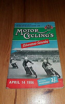 Motor Cycling Silverstone Saturday -  April 14th 1956 motorcycle programme