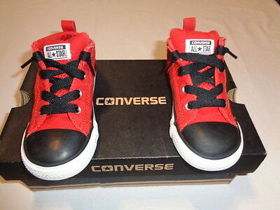 Converse All Star Red/Black Chuck Taylor Toddler Shoe Size 9 GUC