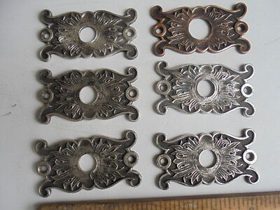 """Antique Victorian ornate brass 09354 drawer pull button PLATE 6 LOT 3"""" X 1 5/8"""""""