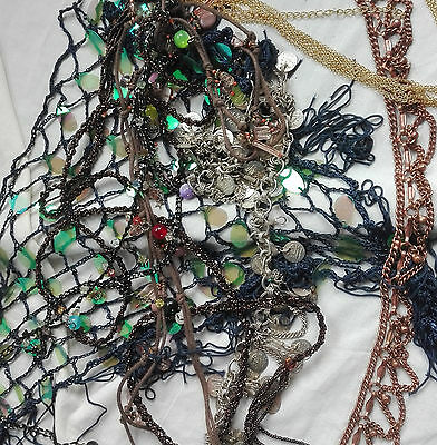MIXED LOT OF CHAINS AND BEAD/JEWELLERY MAKING/ CRAFT SUPPLIES 600gms Treasure