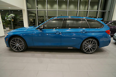 2017 BMW 3-Series CARBON FIBER & ALCANTARA BMW INDIVIDUAL 330xi TOURING WAGON NR LAGUNA SECA BLUE APPLE CAR PLAY NAVIGATION