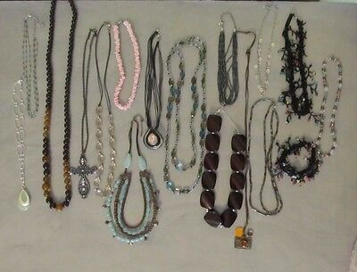 Huge Lot Of 16 Fashion Necklaces