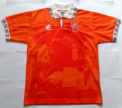 Rare HOLLAND NETHERLANDS Euro 1996 Vintage LOTTO Shirt (L) Jersey Maglia 1990s