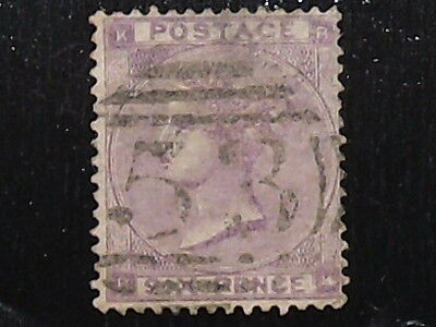 Queen Victoria SG 85 6d lilac with hairlines good to fine