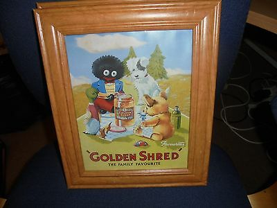 Collectors  advertising Picture  Golden Shred marmalade  framed pine frame