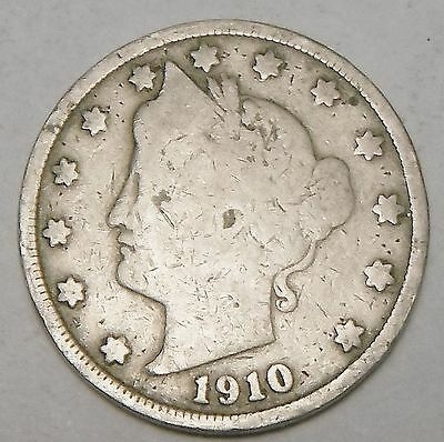 Free Shipping 1910 Liberty V Nickel  5 cent coin L606