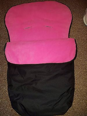 universal pink and black baby car seat winter footmuff fit maxi cosi NEW 0-9 mth