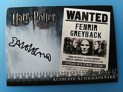 Harry Potter Half Blood Prince Upd Autograph Card Dave Legeno as Fenrir Greyback