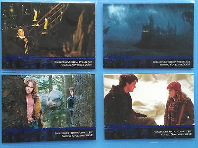 Harry Potter Prisoner of Azkaban Update Blue Foil 4 Card Promo Set Promo01 to 04