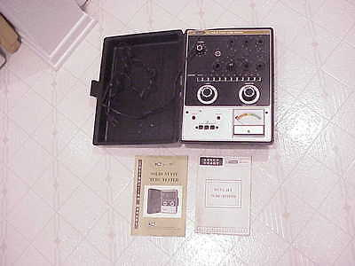 Vintage BK Precision 667 Solid State Vacuum Tube Tester With Manuals