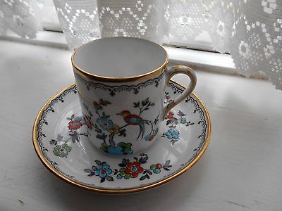 """Tuscan china cabinet cup and saucer """"Plant"""" - hand painted."""