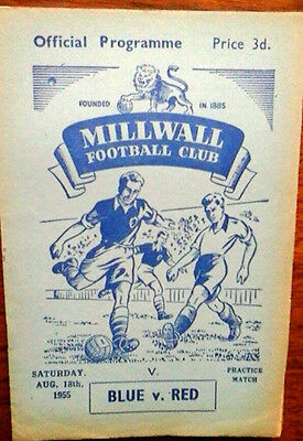 Millwall Blue V Red Practice  Match 18/8/1955