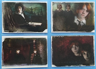 Harry Potter Memorable Moments MM Series 1 Box Topper 4 Card Set BT1 BT2 BT3 BT4