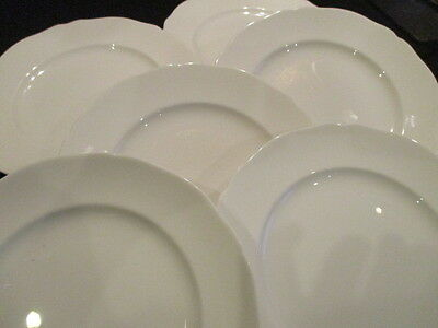 Vintage white china 8 inch plates x 6 in lovely condition