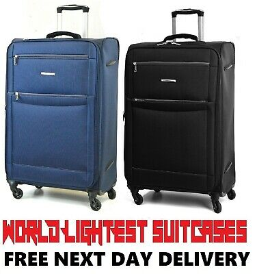Lightweight Expandable World Lightest Suitcases 4 wheel spinner Trolley Cases