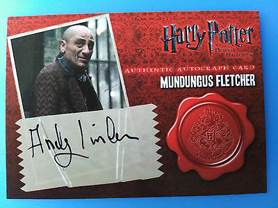 Harry Potter Deathly Hallows Part 1 Autograph Andy Linden as Mundungus Fletcher