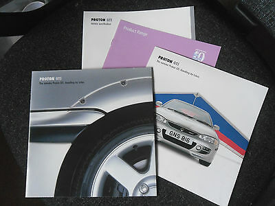 Proton GTI Marketing Sales Literature 1999 (4 items) as shown, great condition.