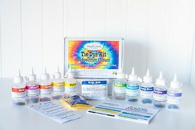 Your Spectrum Tie Dye Kit 10 rainbow colours real fabric dyes for bright colours