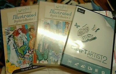 Serif Craft artist 2 aisytrail illustrated digikit collection 1 & 2 new