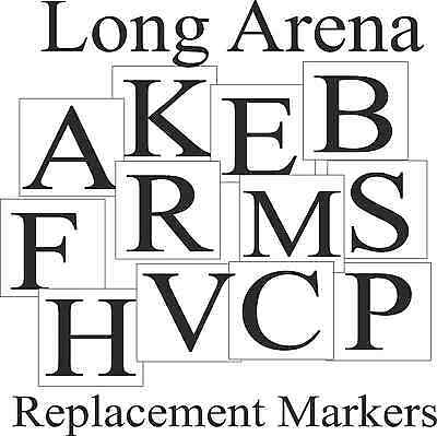 Replacement Dressage Arena Markers Long Arena 20x40 or 20x60 Full Set Menage