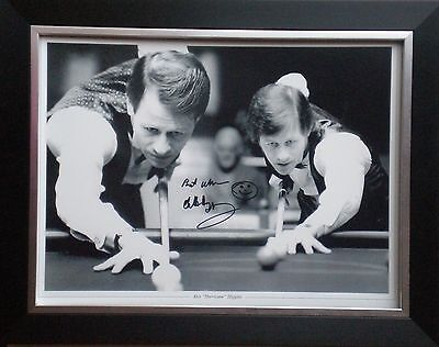 Alex Higgins Signed Snooker Photo Montage Framed