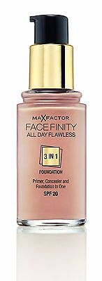 Max Factor Face Finity All Day Flawless 3 in 1 Foundation 30ml - Choose Shade