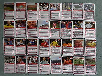 100 Top Trumps Trivia Footballers Cards