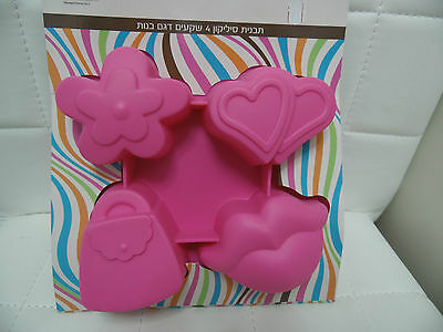 Flower Bag Kiss Heart .Soap Mold Silicone Mould For Cake Candy Chocolate Baking