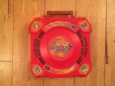 Beyblade Metal Fusion Battle Arena with 2 Metal Beyblades and Launchers
