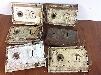 6 Vintage Reclaimed Door Locks Architectural Salvaged Rim Surface Antique Old A1