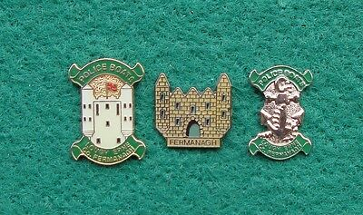 RUC Royal Ulster Constabulary Police FERMANAGH tie tac pin badges
