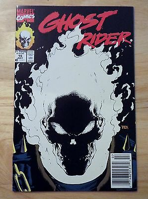 Ghost Rider #15 (1991) High Grade VF / NM Glow in the Dark Cover